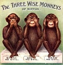 le tre scimmiette al confresso fnsi di bergamo