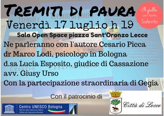 Venerdì a Lecce la presentazione di Tremiti di paura
