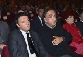 Marchionne e De Benedetti Renzi sta tra gatto e volpe
