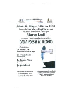 Presentazione del libro di Marco Lodi al Baraccano