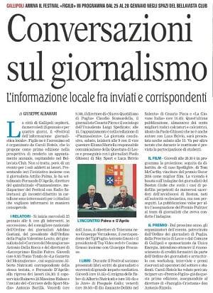 Cesario Picca e Saru a Festival informazione