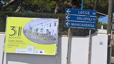 Notte in giallo a Racale nel Salento con Saru Santacroce e i suoi gialli